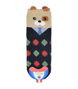 جوراب نیم ساق گوشدار طرح سگ جنتلمن