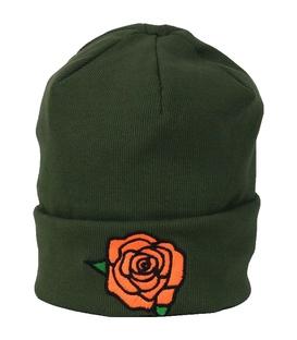 کلاه طرح گل رز زیتونی