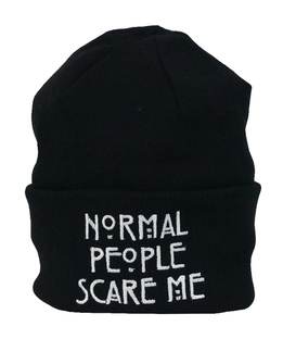 کلاه طرح Normal People Scare ME مشکی