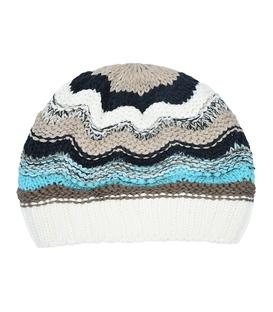 کلاه دست بافت طرح امواج سفید