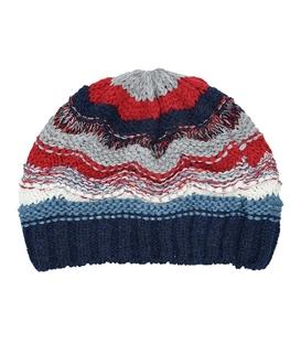 کلاه دست بافت طرح امواج سرمهای