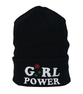 کلاه طرح Girl Power مشکی