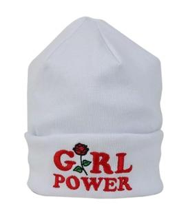 کلاه طرح Girl Power سفید