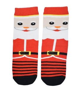 جوراب ساقدار طرح بابانوئل راه راه