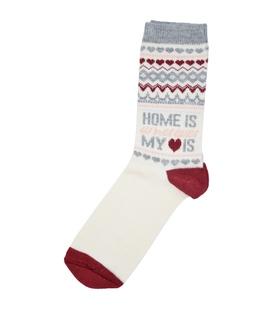 جوراب پشمی طرح عاشق خونه
