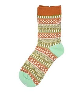 جوراب ساق دار طرح سنتی قهوهای