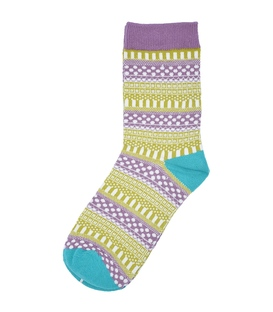 جوراب ساقدار طرح سنتی بنفش