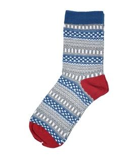 جوراب ساقدار طرح سنتی سرمهای
