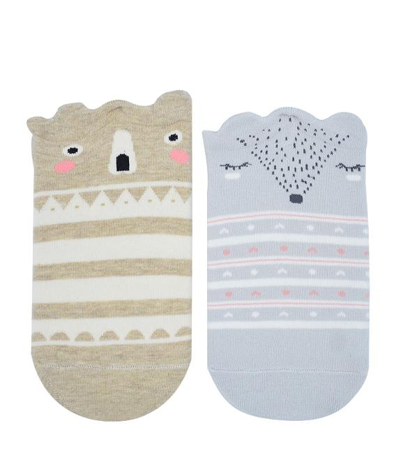 جوراب مچی طرح راسو و خرس - دو جفت