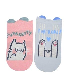 جوراب مچی طرح گربه های شیطون - دو جفت