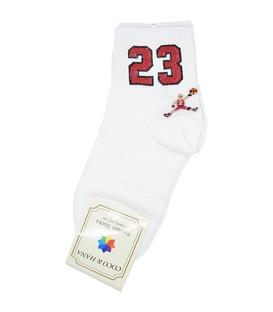 جوراب نیم ساق طرح بسکتبال سفید