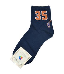 جوراب نیم ساق طرح بسکتبال سرمهای