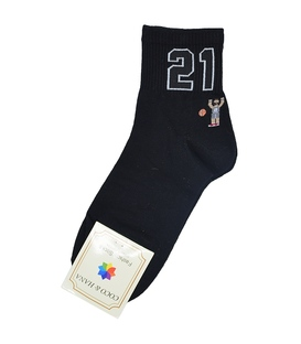 جوراب نیم ساق طرح بسکتبال مشکی