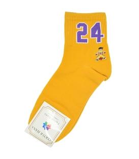 جوراب نیم ساق طرح بسکتبال خردلی