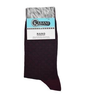 جوراب نانو ساق بلند Kabani طرح لوزی زرشکی
