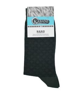 جوراب نانو ساق بلند Kabani طرح لوزی سبز لجنی