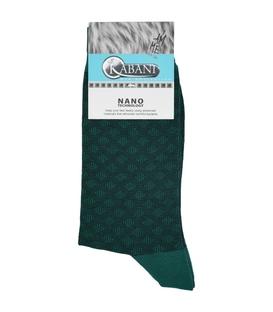 جوراب نانو ساق بلند Kabani طرح لوزی سبز