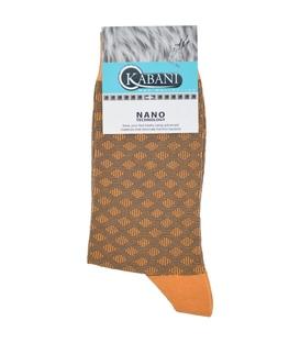 جوراب نانو ساقدار Kabani طرح لوزی نارنجی