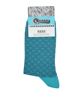 جوراب نانو ساق بلند Kabani طرح لوزی سبزآبی