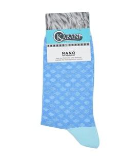 جوراب نانو ساقدار Kabani طرح لوزی آبی آسمانی