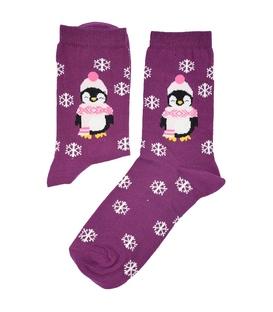 جوراب ساق دار Chetic چتیک پنگوئن سرمایی بنفش