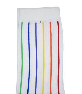 جوراب ساق بلند Chetic راه راه عمودی سفید