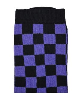 جوراب ساق بلند Chetic شطرنجی بنفش