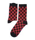 جوراب ساقدار Chetic چتیک شطرنجی قرمز مشکی