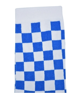 جوراب ساق بلند Chetic شطرنجی آبی