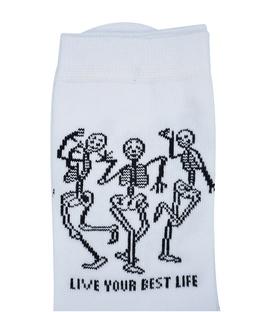 جوراب ساق بلند Chetic رقص اسکلت ها سفید