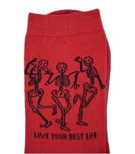 جوراب ساق بلند Chetic رقص اسکلت ها قرمز