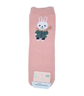 جوراب نیم ساق طرح خرگوش خوشتیپ صورتی