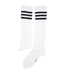 جوراب زیر زانو Conoro سه خط سفید مشکی