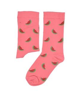 جوراب ساق دار بوم طرح هندوانه صورتی
