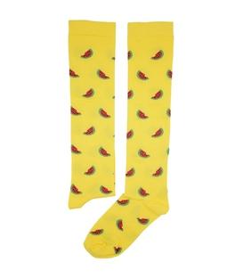 جوراب زیر زانو بوم طرح هندوانه زرد