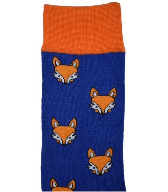 جوراب ساق دار داینو ساکس طرح روباه آبی