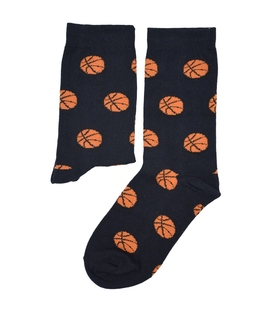 جوراب ساقدار بوم طرح توپ بسکتبال مشکی