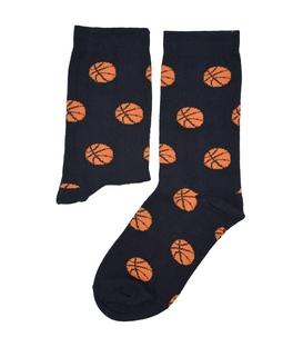 جوراب ساق دار بوم طرح توپ بسکتبال مشکی