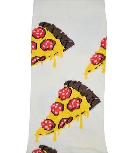 جوراب ساق بلند Chetic طرح پیتزا سفید