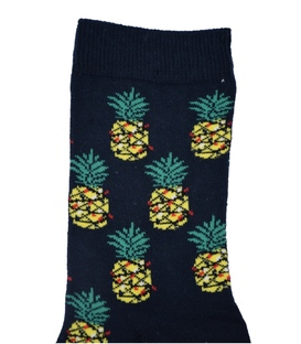 جوراب ساق بلند Chetic طرح آناناس کریسمس مشکی