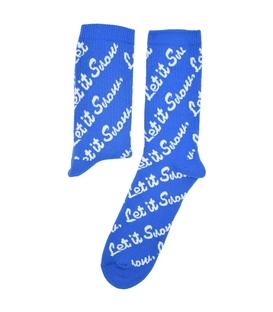 جوراب ساق دار Chetic چتیک طرح Let it Snow آبی