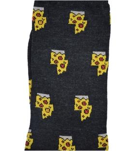 جوراب ساق دار داینو ساکس طرح پیتزا زغالی
