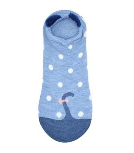 جوراب گوشدار قوزکی طرح موش چپول آبی