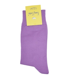 جوراب ساق دار فانی ساکس ساده بنفش روشن