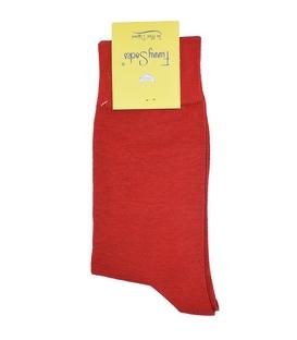 جوراب ساق دار فانی ساکس ساده قرمز