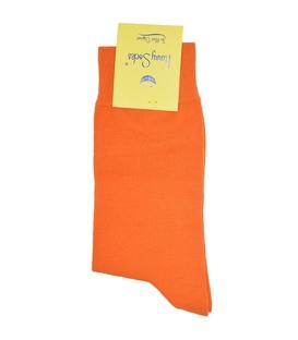 جوراب ساق دار فانی ساکس ساده نارنجی