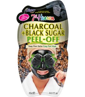ماسک صورت Peel-Off زغال و شکر سیاه مونته ژنه مدل 7th heaven حجم ۱۰ میلی لیتر