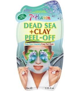 ماسک صورت Peel-Off نمک دریا + خاک رس مونته ژنه مدل 7th heaven حجم ۱۰ میلی لیتر