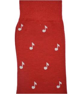 جوراب ساقدار Conoro طرح نت موسیقی قرمز