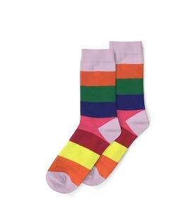 جوراب ساق دار نانو پاتریس طرح رینگی رنگارنگ